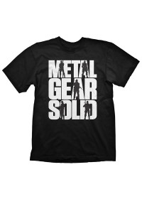 Tričko Metal Gear Solid Logo Black