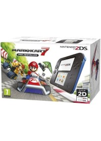 Nintendo 2DS Black &amp, Blue + Mario Kart 7