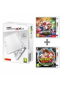 New Nintendo 3DS XL Pearl White+Mario Sports + YW2