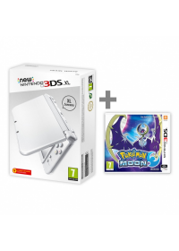 New Nintendo 3DS XL Pearl White + Pokemon Moon