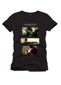 Tričko Injustice: Gods Among Us - Art black