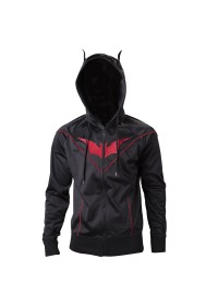 Mikina Injustice - Batman Multipanel Hoodie with Bat Ears