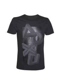 Tričko Playstation - Buttons Impossible Perspective Artwork Tee