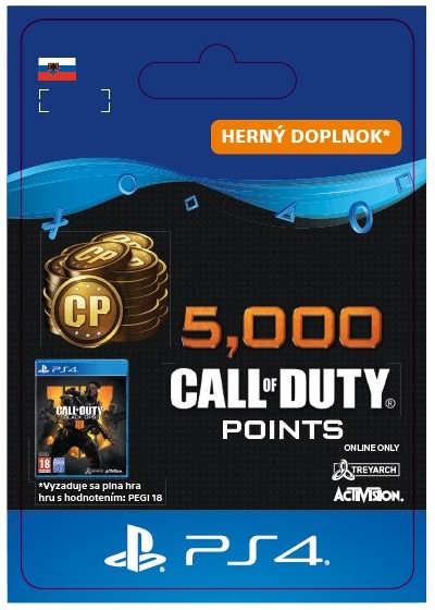 SK PS4 - 5,000 Call of Duty®: Black Ops4Points
