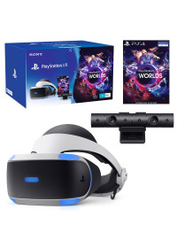 PSVR headset + Kamera + VR World (PSN voucher)