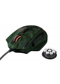 myš TRUST GXT 155C Caldor Gaming Mouse - green camouflage