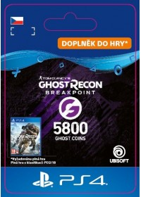 CZ PS4 - Ghost Recon Breakpoint - 4800 (+1000) Ghost Coins