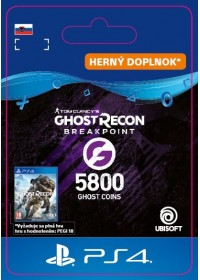 SK PS4 - Ghost Recon Breakpoint - 4800 (+1000) Ghost Coins