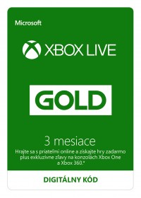 Xbox LIVE Gold 3 mesiace