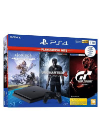 PlayStation 4 Slim 1TB + 3 hry: (Gran Turismo Sport,Uncharted 4, Horizon Zero Dawn)PlayStation 4 Slim 1TB + 3 hry: (Gran Turismo