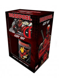 Deadpool gift set incl:mug, coaster, keychain
