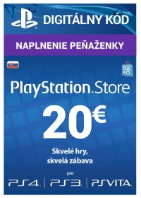 PlayStation Network Cards (PS4) SK - 20 € DIG