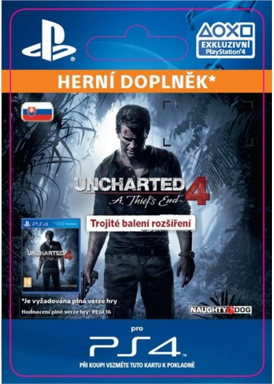 SK PS4 - Uncharted 4: A Thief's End Triple Pack Expansion