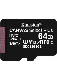 64GB microSDXC Kingston Canvas Select Plus A1 CL10 100MB/s bez adapteru SDCS2/64GBSP