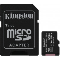 128GB microSDXC Kingston Canvas Select Plus A1 CL10 100MB/s + adapter SDCS2/128GB