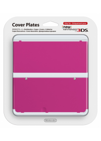 New 3DS Cover Plate 19 (Plain Pink)