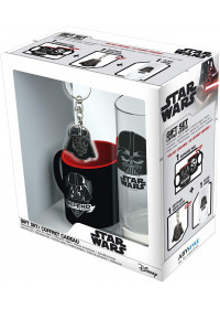 "GIFT SET STAR WARS: Glass, Coaster, Mini Mug ""Darth Vader"""