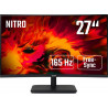 "27"" Acer ED270RP - VA, FullHD@165Hz, 5ms, 250cd/m2, 16:9, HDMI, DP, FreeSync"