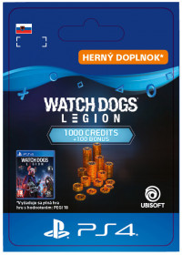SK PS4 - WATCH DOGS: LEGION 1100 WD CREDITS PACK