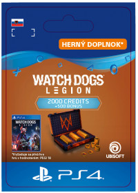 SK PS4 - WATCH DOGS: LEGION 2500 WD CREDITS PACK