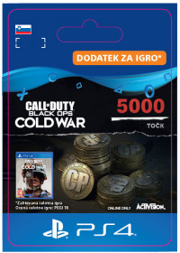 SI - 5,000 Call of Duty®: Black Ops Cold War Points