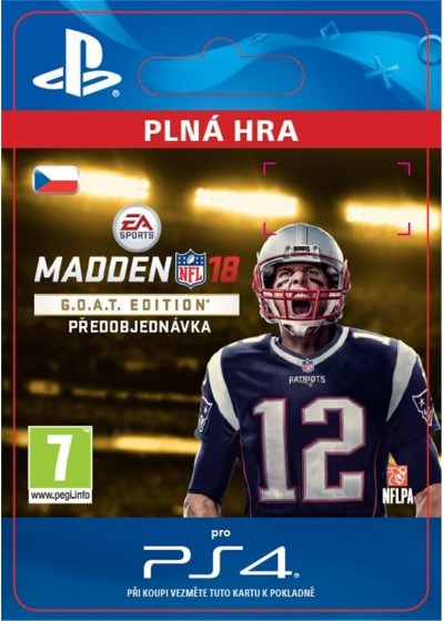 CZ PS4 - Madden NFL 18 G.O.A.T. Edition