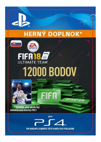 SK PS4 - 12000 FIFA 18 Points Pack