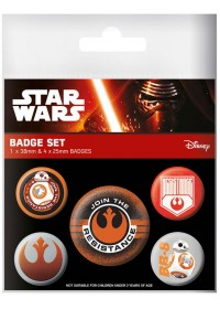 STAR WARS - EPISODE VII RESISTANCE PIN BADGES SET (5 PINS)