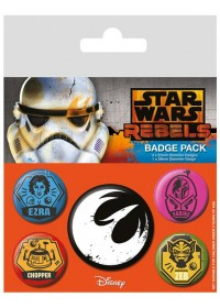 STAR WARS - REBELS PIN BADGE PACK (5 PINS) (BP80480)