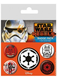 STAR WARS - VILLAINS PIN BADGE PACK (5 PINS) (BP80479)