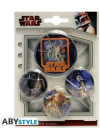 STAR WARS - VINTAGE PIN BADGES (4pcs)