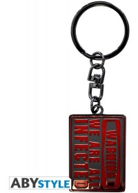 THE WALKING DEAD - WE ARE ALL INFECTED METAL KEYCHAIN (ABYKEY108)