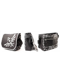 ZELDA - BLACK WITH LOGO IN FRONT MESSENGER BAG (MB00GTNTN)