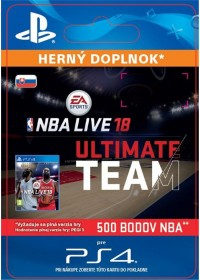 SK PS4 - EA SPORTS™ NBA LIVE 18 ULTIMATE TEAM™ - 500 NBA POINTS