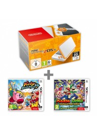 New N2DS XL White&amp,Orange + KBR + M&amp,L:Supersaga