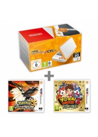 New N2DS XL White&amp,Orange + Pokémon US + YW2