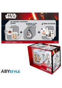 STAR WARS - BB8 320ml MUG + PVC KEYCHAIN + STICKERS GIFT BOX (ABYPCK076)