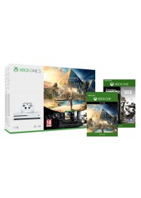 XBOX ONE S 1TB Biela + Assassin's Creed Origins a Rainbow Six Siege