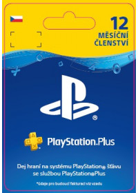 CZ PS4 - PlayStation Plus 12 Month Membership
