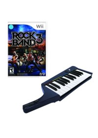 Rock Band 3 Wireless Keyboard + Game Bundle